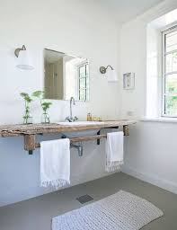 rustic full bathroom with wood counters u0026 drop in sink zillow