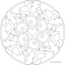 printable free simple mandala coloring pages coloring