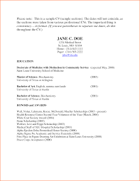 Sample Medical Student Resume Medical Residency Cv Format 8 Cv Format Medical Student Event