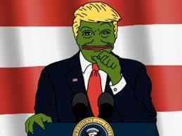 Donald Meme - hillary clinton attacks donald trump for posting pepe the frog meme