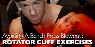 Rotator Cuff Injury From Bench Press Avoiding A Bench Press Blowout Rotator Cuff Exercises Rotator