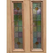 stained glass door windows glass panel exterior door traditional front door with gate glass