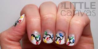 christmas light nail art the little canvas