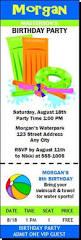 pool party birthday ticket invitation