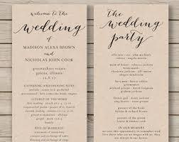 Simple Wedding Program Templates Wedding Program Fan Template Printable By Hopestreetprintables