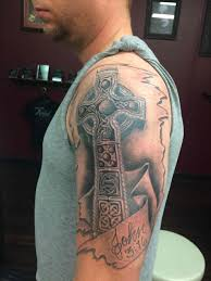 cool cross tattoos for guys on forearm tribal designs