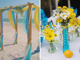 Teal Wedding Inspirations For Blue And Yellow Wedding Colors Everafterguide