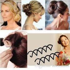 Flower Clips For Hair - spiral spin pin hair clip hairpin twist barrette black hair
