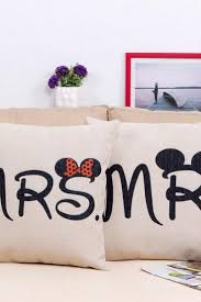 items for the home every disney lover should own southern living mickey and minnie mr and mrs pillow cases