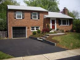 tri level home front yard landscaping ideas for bi level amys office
