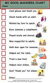 table manners for kids printable elise mcveigh life c my good manners chart info pinterest