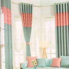 Light Pink Curtains by Button Accent Light Blue And Pink Modern Curtains 2016 New Arrival
