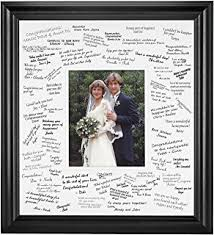 wedding signing frame signature picture photo mat corner guest book