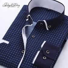 new brand men u0027s polka dot shirts casual office shirt slim fit men