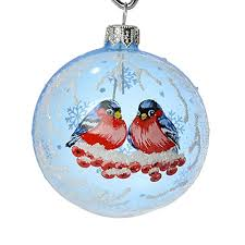 bullfinches ornament light blue oodles of