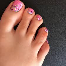 56 adorable toe nail designs for summer 2017 pink sparkle nails
