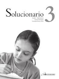 examen montenegro 3 grado primaria solucionario 3 grado de libros de texto