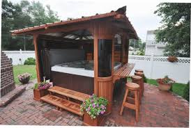 tub gazebo ideas backyard design ideas with gazebo intended