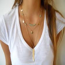 boho gold pendant necklace images Necklaces slim wallet company jpg