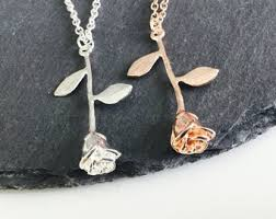 flower necklace etsy images Rose necklace etsy jpg