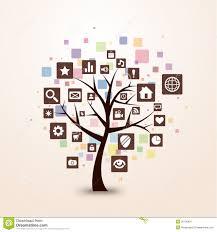 web icon tree concept retro color stock image image 26156851
