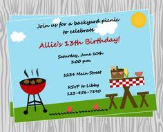 Backyard Birthday Party Invitations by Backyard Summer Bbq Barbeque Party Card Summer Bbq Cards And Craft