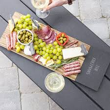 personalized cheese platter personalized acacia slate cheese board