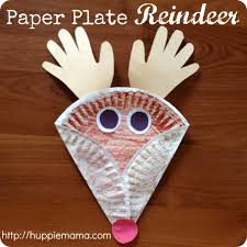 christmas reindeer crafts christmas kids craft paper plate