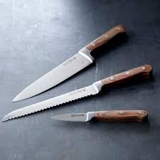 kitchen knive sets williams sonoma open kitchen 3 piece knife set williams sonoma