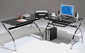 Black Glass L Shaped Computer Desk 15 Best Of Black Glass Computer Desk