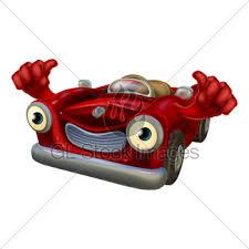 cartoon convertible car cartoon car mascot gl stock images