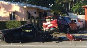 lamborghini minivan 2 hurt after lamborghini slams into minivan in north miami