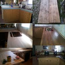 diy rustic wood kitchen countertops diy kitchen redo