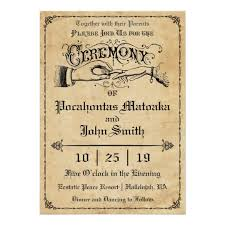 wedding ceremony card ceremony rustic vintage wedding invitation zazzle