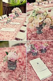 pink rosette table runner amazon com shidianyi 54 x54 pink satin rosette tablecloth