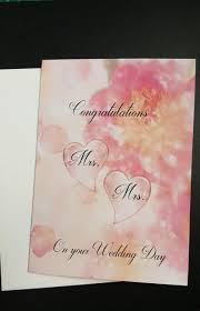 congratulations marriage card mrs and mrs card wedding card for