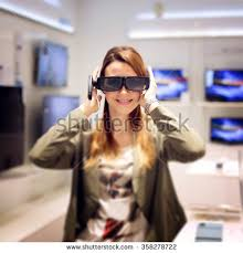 New 3d Tv Man Woman Shopping 3d Tv Stock Photo 446443777 Shutterstock