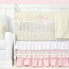 Pink And Gold Baby Bedding Gold Dot Crib Bedding Collection Caden Lane