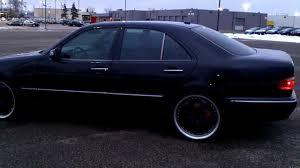 1999 black mercedes mercedes e320 on 20s black on black eclass