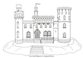 castle colouring pages