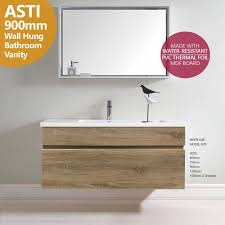 900mm Bathroom Vanity by Asti 900mm White Oak Pvc Thermal Foil Timber Wood Grain Wall