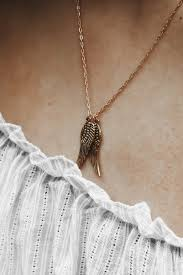 gold filled necklace images Angel wings dainty gold filled necklace modern gift for her jpg