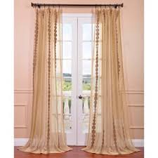 Sheer Panel Curtains Shop For Exclusive Fabrics Cleopatra Gold Embroidered Sheer