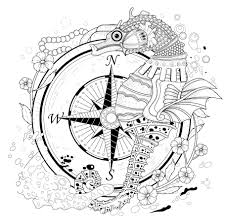 seahorse coloring page animal doodles doodle coloring pages