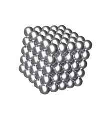 3d cube with silver balls stock image illustration of bearings