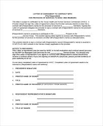 contract letter of intent template 9 employment letter of intent