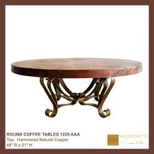 coffee tables hammered copper coffee table copper top side table