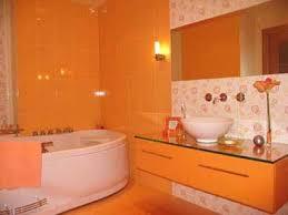 orange bathroom ideas colorful bathroom design ideas impressive modern bathrooms