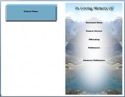 sle funeral program funeral program sle 8 images resume exles resume personal