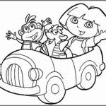 free dora coloring pages printable toddlers color zini